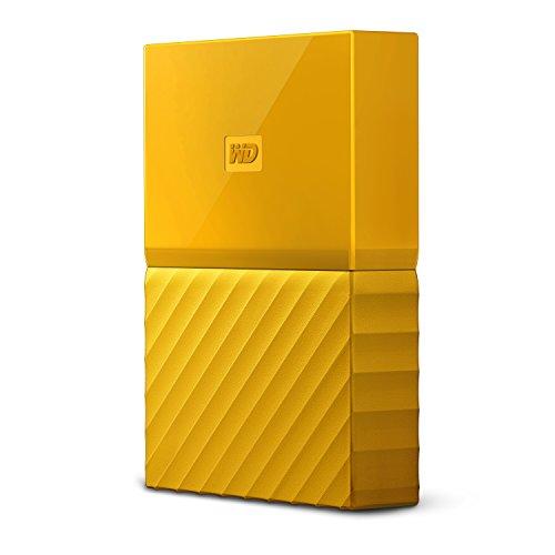 mobile 4 TB-Festplatte WD My Passport WDBYFT0040BYL-WESN (gelb), mit Kennwortschutz u. Software für autom. Datensicherung