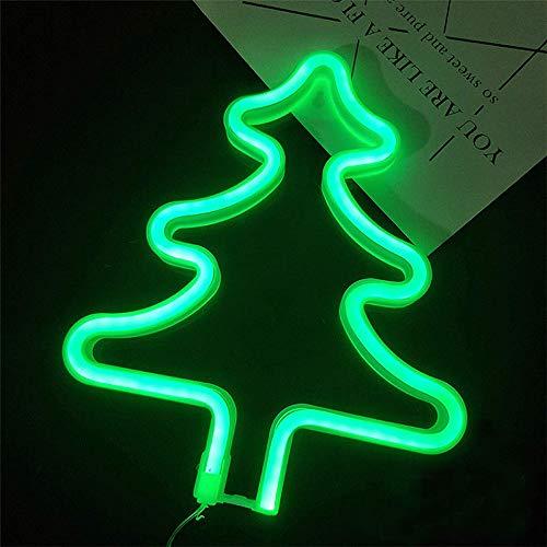Weihnachtsbaum-LED-Neonzeichen Kunst Dekorative Leuchten USB 3-AA-Batterie Green Tree Nachtlicht-Wand-Dekor-Hochzeitsfest-Dekor-Kind-Raum Wohnzimmer-Dekor-Feiertags-Weihnachten LED-Dekor-Lichter - Partei Für Die Geld-baum