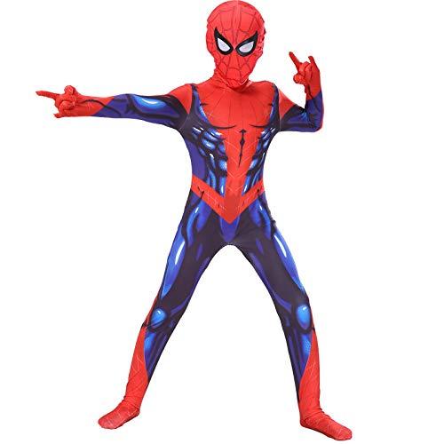 BLOIBFS Spiderman Kostüm Kinder,Superheld Fasching Lycra Jumpsuits Party Halloween Kostime Herren Onesies,Child-M (Kostüm Professionelle Hulk)