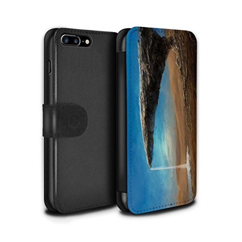 Offiziell Chris Cold PU-Leder Hülle/Case/Tasche/Cover für Apple iPhone 8 Plus / Pack 6pcs Muster / Galaktische Welt Kollektion Exoplanet