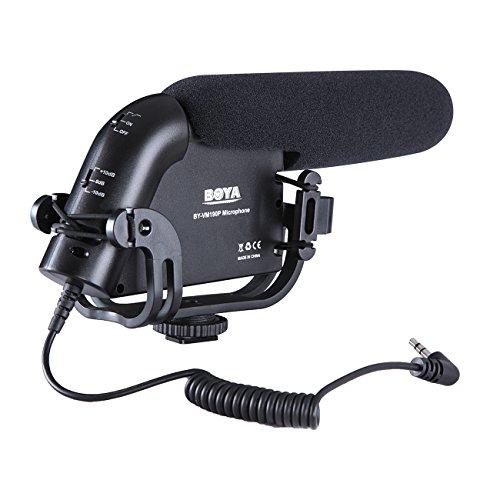 BOYA BY-VM190P Mikrofon für DSLR-Kameras, Camcorder und Audio-Recorder