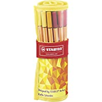 Stabilo 8825-02 Point 88,  Rotulador con punta fina, colores surtidos, pack de 25 unidades