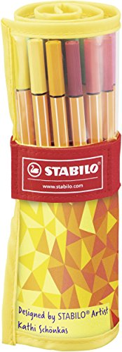 stabilo-point-88-fan-edition-rollerset-da-25-colori-assortiti