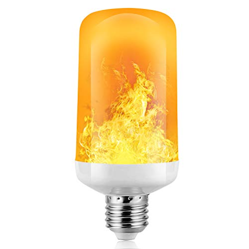 Flamme Glühbirne, 4W E27 Base Flammen Lampe, 4 Beleuchtungsmodi dekorative Atmosphäre Lampen für Halloween, Weihnachten, Haus, Restaurants, Bar Party und so weiter (1 PCS)