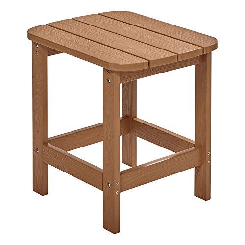 NEG Design Adirondack Tisch MARCY (naturbraun) Westport-Table/Beistelltisch aus Polywood-Kunststoff (Holzoptik, wetterfest, UV- und farbbeständig)
