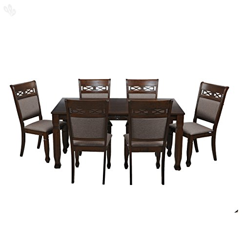 Royal Oak Iris Six Seater Dining Set (Walnut)
