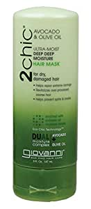 Giovanni Cosmetics 2Chic Ultra-Moist Deep Deep Moisture Hair Mask Avocado and Olive Oil