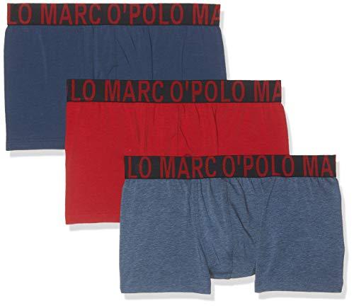 Marc O'Polo Body & Beach Herren Multipack M-Shorts 3-Pack Slip, Rot (Dunkelrot 507), Large (Herstellergröße: L) (3erPack)