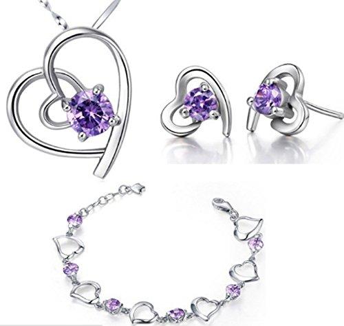 saysure-luxury-amethyst-crystal-wedding-jewelry-set