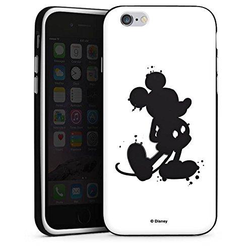 Apple iPhone X Silikon Hülle Case Schutzhülle Disney Mickey Mouse Geschenke Silikon Case schwarz / weiß