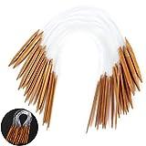 JUSTDOLIFE 18 STÜCKE Rundstricknadel 18 Art Durchsichtigen Kunststoffrohr Bambus zum Stricken