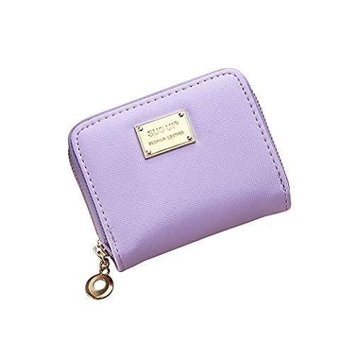 Tinksky Klein Portemonnaie mit Reißverschluss Damen Kleine Geldbeutel PU Leder Brieftasche für Frauen Mädchen (Schönes Portemonnaie)