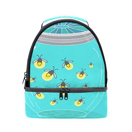 g Light Tragbare Schule Schulter Tote Lunchpaket Handtasche Kinder Doppel Lunchbox Wiederverwendbare Isolierte Kühler Für Frauen Student Reise Outdoor ()