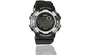 fusine Digital Black Dial Unisex's Watch-DG-02