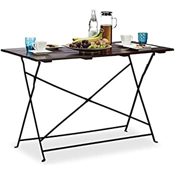 Relaxdays Grande table de jardin pliable HxlxP: 75 x 120 x 60 cm en ...