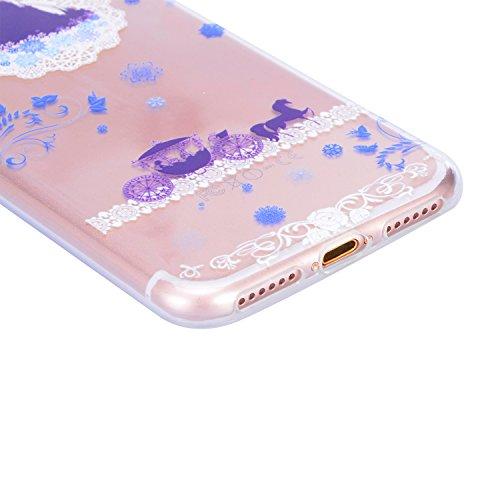 Coque iPhone 6S, Sunroyal iPhone 6 6S Silicone Coque de Protection Transparente TPU Gel Souple Etui Housse Anti-choc Shock-Absorption Bumper Case Cover Premium Ultra-Mince Motif Impression Créatif Cou Motif 17