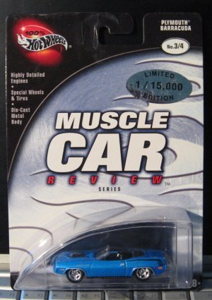 Hot Wheels 100% Muscle Car Review 3/4 Plymouth Barracuda BLUE by Hot Wheels