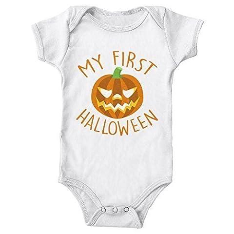 MYOG Mein erstes Halloween Strampler, süß Geschenk 1. Kostüm Strampler, Jungen & Mädchen, 4 Farben, Größen 0-18 monate - Weiß, 3-6 (Großbritannien Kostüm)