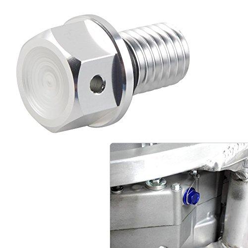 H2Racing Argent M10xP1.5 Vert CNC Aluminium Magnétique d'huile Vis-boulons pour KX65 00-18,KX85/100 01-18,KX125 96-08,KX250 96-08,KX250F 04-18,KX450F 16-18,KLX250/D-TRACKER 98-16,250SB 02-06,NINJA250SL 15