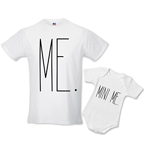 Babloo FP 038 Idea Regalo Coppia di T Shirt e Body Papa Figlio Me And Mini Me