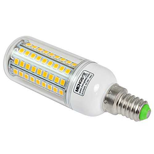 2X MENGS® E14 12W LED lampe Leuchtmittel & Birne Mais Licht 102 x 2835 SMD LEDs Mit PCB-Mantel (750LM, AC 220-240V, Warmweiß 3000K, 360º Abstrahlwinkel, Ø32×96mm) Energiespar licht - 3