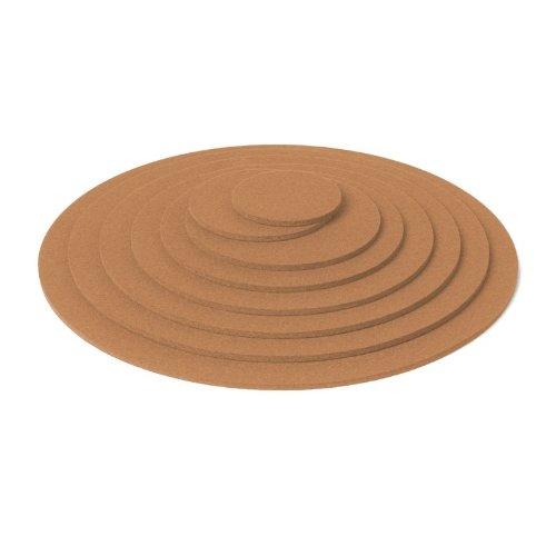 Hey-Sign Untersetzer rund, ca 9 cm, Karamell , Stärke 5 mm (Karamell-farbton)