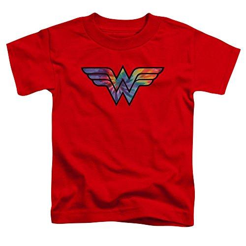 Wonder Woman - - Kleinkind-Krawatten-Logo-T-Shirt, 3T, Red (Kleinkind-t-shirt Woman, Wonder)