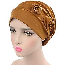 ZYCC Mujeres Cabeza Bufanda Sombrero Gorra Chemo Cáncer Étnicas Tela Imprimir Turbantes Gorros Estiramiento Flor musulmanes
