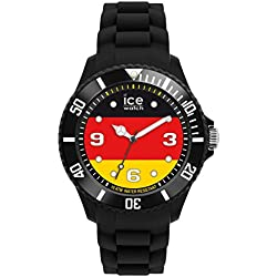 Ice-Watch Big Quartz Watch with Multicolour Dial Analogue Display and Black Silicone Strap WO.DE.B.S.12