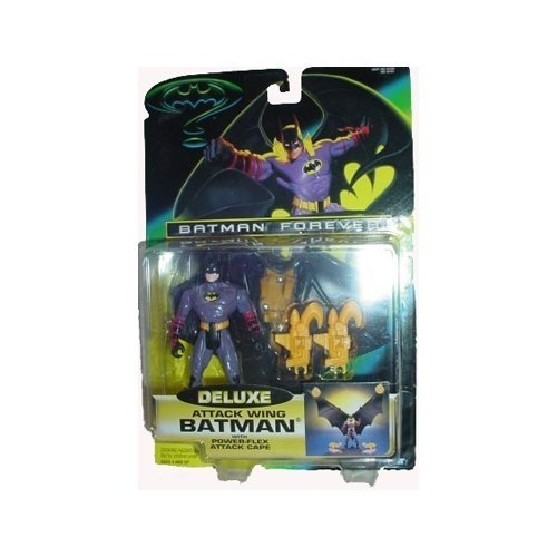 Batman Forever Deluxe Attack Wing Batman Action Figure by Kenner (Wings Batman Action-figuren)