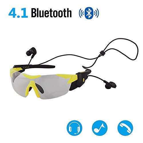 Kuan-Cycling glasses Radsportbrille mit 4,1-Stereo-Bluetooth-Freisprechfunktion für Outdoor-Sportarten polarisierte Sonnenbrille intelligente Reitbrille für alle Smartphones,D