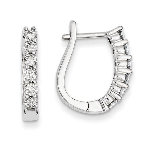 14k oro bianco Plain .035 Calibro Engravable Charm Cuore da UKGems - White Gold Plain .035 Gauge Engravable Heart Charm
