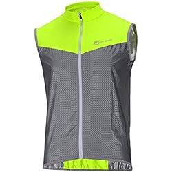 ROCKBROS Chaleco Reflectante para Ciclismo Transpirable Corto Resistente al Viento Cortavientos Alta Visivilidad para Running Deportes al Aire Libre para Hombre y Mujer