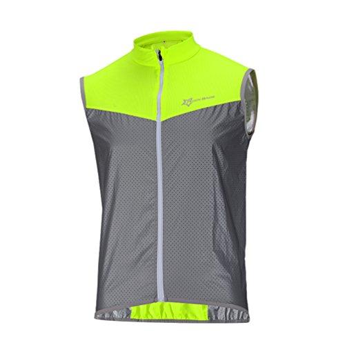 ROCKBROS Fahrrad Weste Reflektierende Windfest Atmungsaktiv Elemente Kurze Jersey für Sport Aktivitäten(Asia XXL=Europa XL) -