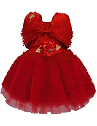 Wish Karo Baby Girls Frock Birthday Dress for Girls - Net - (fe2668)