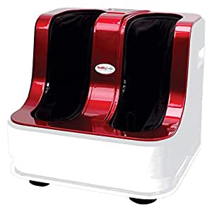 Healthgenie Foot & Leg Massager for Pain Relief with Kneading and Heating functions (Red)