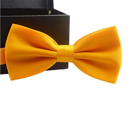 Cloom Fliege Herren in 15 Farben - Schleife Gebunden und Verstellbar (12cm x 6,5cm) - für die Hochzeit die Konfirmation Schulen Zeremonie Zum Anzug Oder Smoking Gentleman Anzug Zubehör (O)