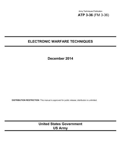 Army Techniques Publication ATP 3-36 (FM 3-36) Electronic Warfare Techniques December 2014