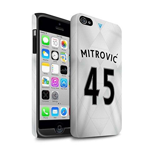 Officiel Newcastle United FC Coque / Matte Robuste Antichoc Etui pour Apple iPhone 4/4S / Pack 29pcs Design / NUFC Maillot Extérieur 15/16 Collection Mitrovic