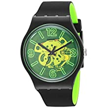 Swatch Mens Analogue Quartz Watch with Silicone Strap SUOB166