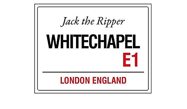 Whitechapel métal London Street Signe Jack l/'éventreur plaque Nouveauté Porte Mur