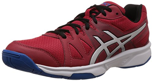 Asics Men's Gel-Upcourt Fiery Red, Silver and Electric Blue Mesh Indoor Multisport Court Shoes - 9 UK