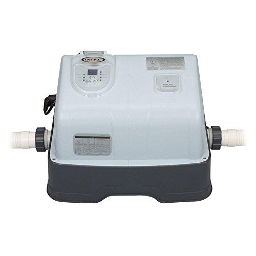 Intex Ozon-/Chlorgenerator Krystal Clear Salzwassersystem, Ozon Desinfektion, grau, 125 W / 230 V