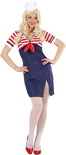 Widmann 75803 - Erwachsenenkostüm Sailor Girl, Größe L (Uniform Girl Sailor)