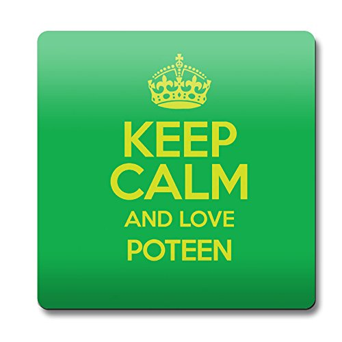 Grün Keep Calm und Love Poteen Untersetzer Farbe 2841