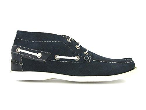 ANDREW MacALLISTER Bateaux Boots 360-24 Velours Bleu Bleu