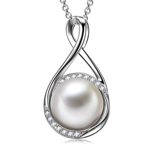 Sivery 'Erstaunliche Liebe' Perlenkette, 925 Sterling Silber Anhänger -