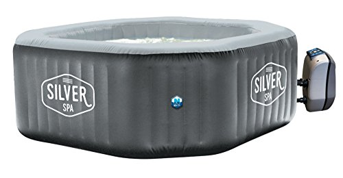 Spa gonflable octogonal Silver - Poolstar - 5/6 personnes - 1.95m x 1.95m x 70cm