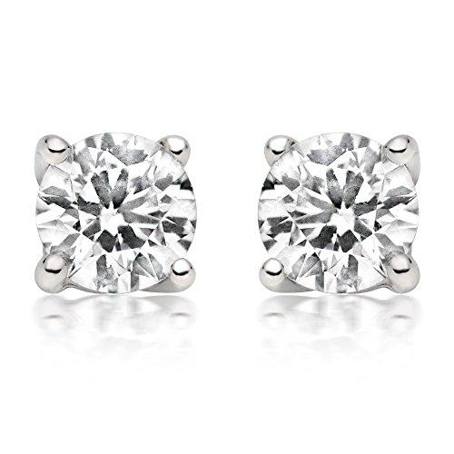 G&S Diamonds - Gold 14 Karat (585) 14 Karat (585) Weißgold Brilliant Rund Leicht Getöntes Weiß/Crystal (J) Diamant