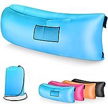 Sofá Hinchable Aire, Tumbona Hinchable con Bolsa de Transporte, Inflatable Sofá Air Lounger Portátil